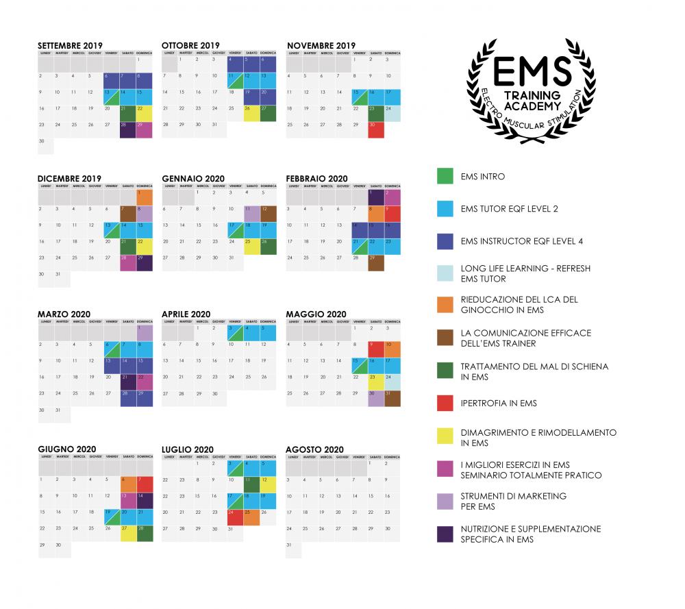 Calendario Anno 2020.Calendario 2019 2020 Pronti Per Un Nuovo Anno Di Formazione